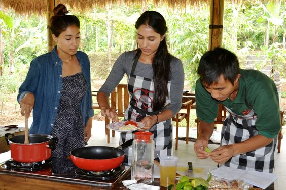 Participating on Cooking Class At Your Villa Ubud Bali